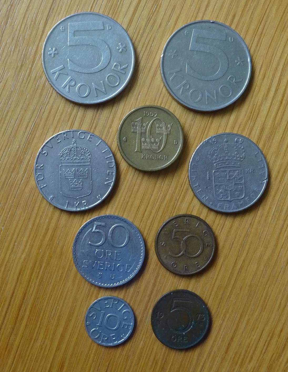 Švédsko set 9 mincí
