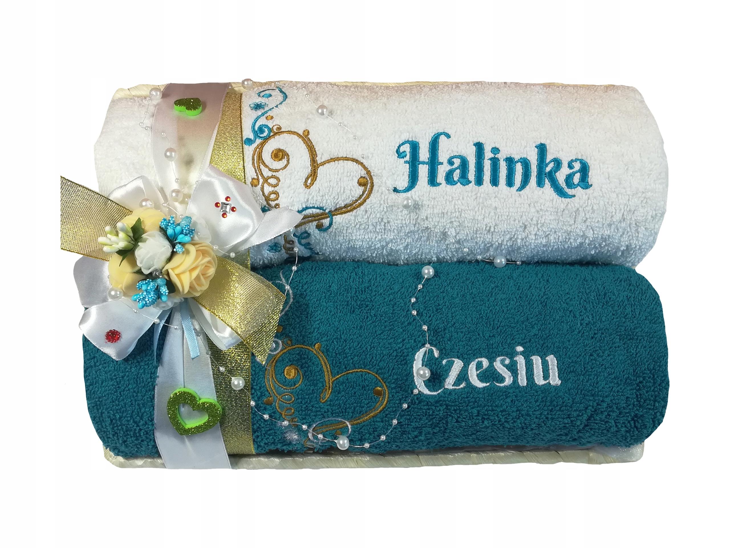 2 Ręczniki Haft Koszyk Prezent ślub Rocznica 7578631550 Allegropl