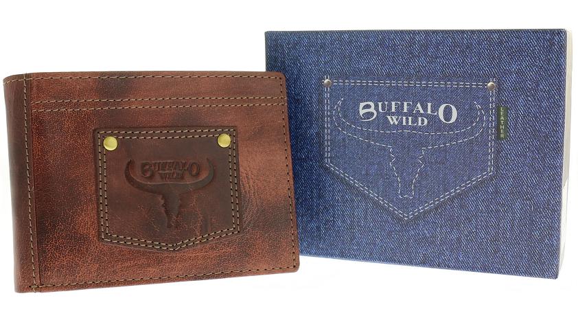 Vždy Wild kožené peňaženky vintage kožené buffalo