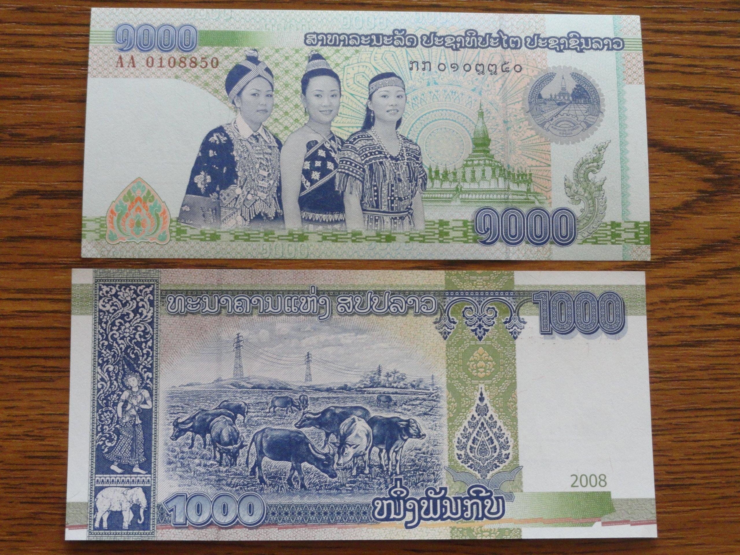 430.LAOS 1000 KIP UNC