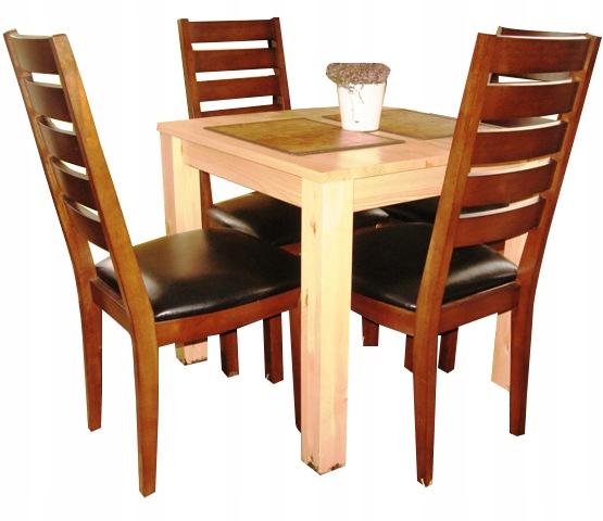 Stôl 80x80 borovice drevené MODERNÝ a ELEGANTNÝ