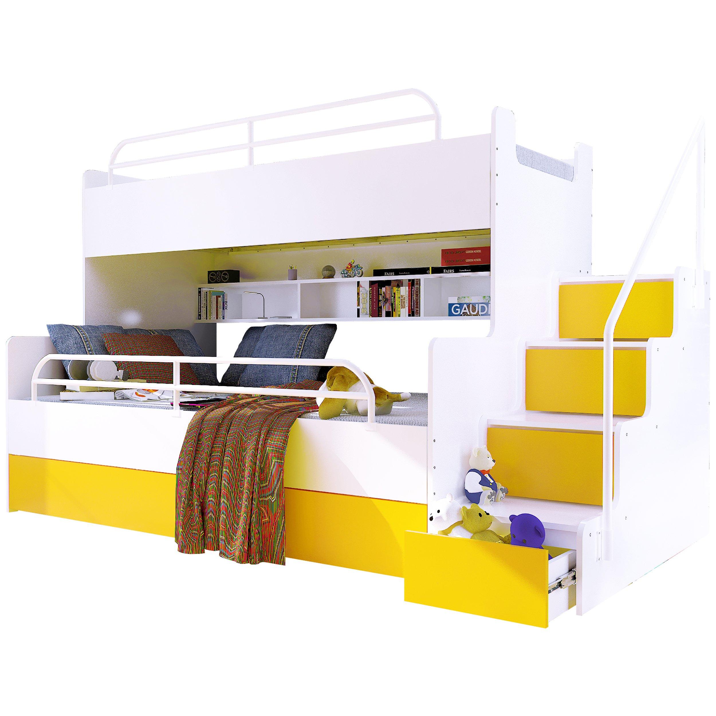 Купить Двухъярусная кровать МАГНУМ BETA 3 - желтые - MEGAMOCNE на Otpravka - цены и фото - доставка из Польши и стран Европы в Украину.