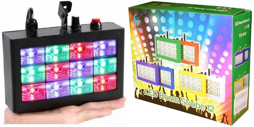 Stroboscope 3 Farby Hlavný svetlomet Colorofon 12 LED RGB
