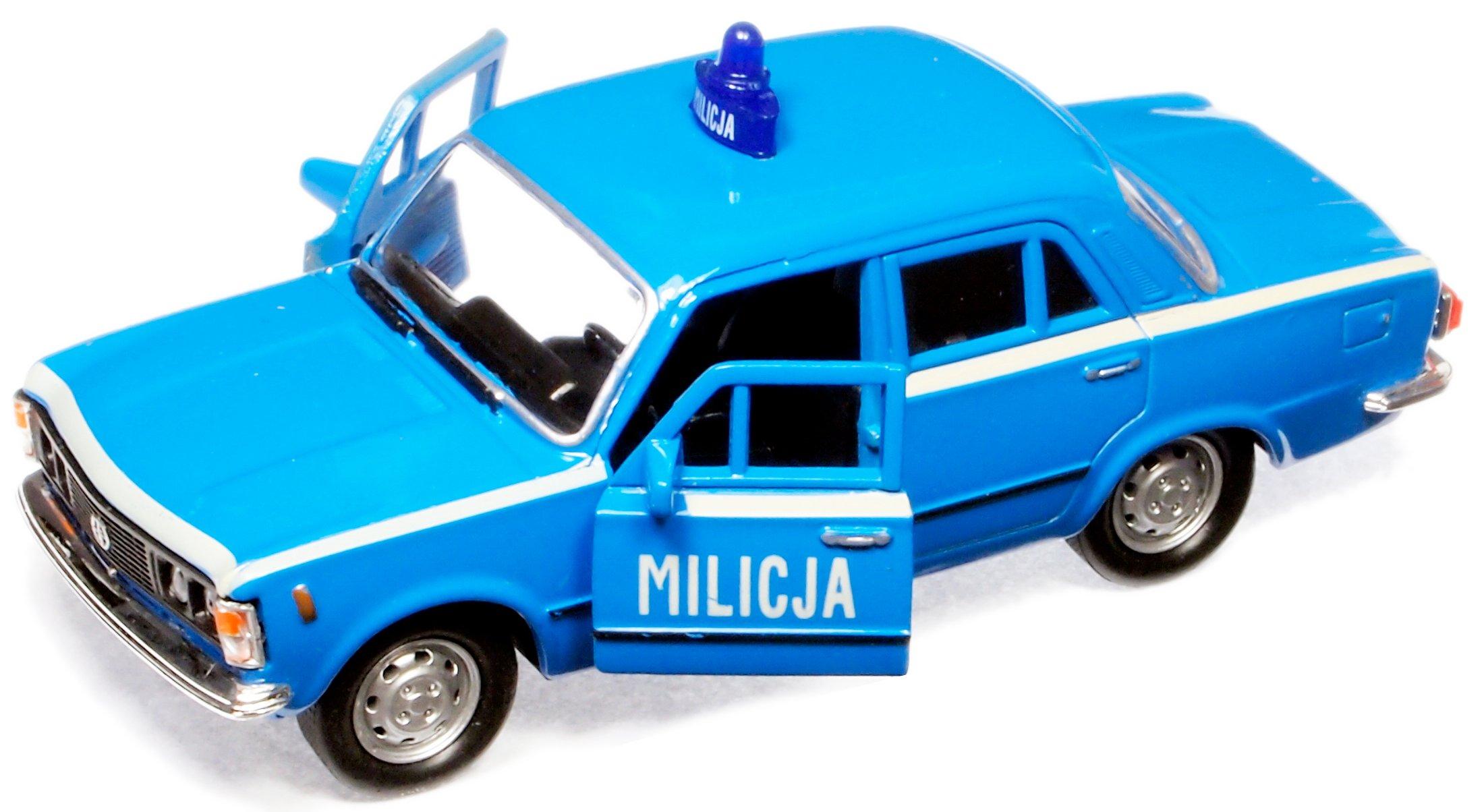 PRL CAR MILITI MO Polícia Fiat 125P Policajné auto