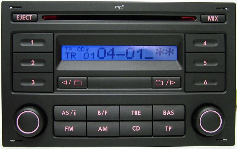 радио vw rcd200 mp3 t4 поло sharan lupo гольф бора