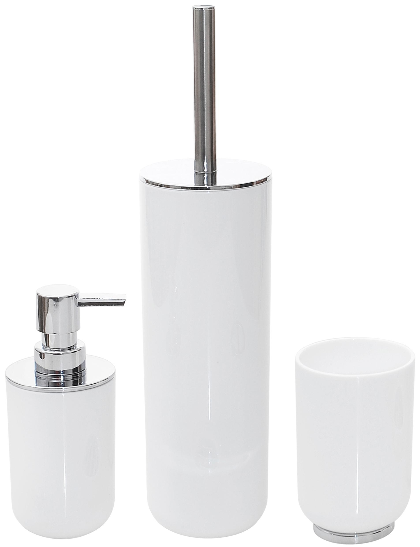 KÚPEĽŇOVÁ SADA sada WC doplnkov biela