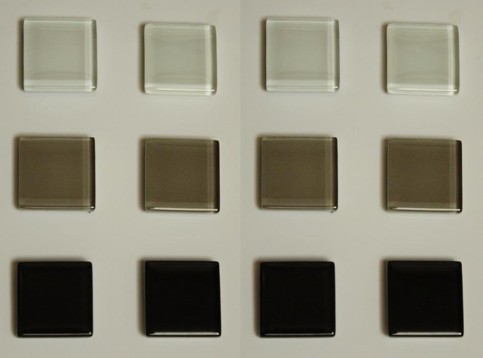 Chladnička magnety sklenené mozaika 12ks 23x23mm