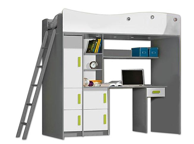 Антресоль кровать лестница рабочий стол шкаф