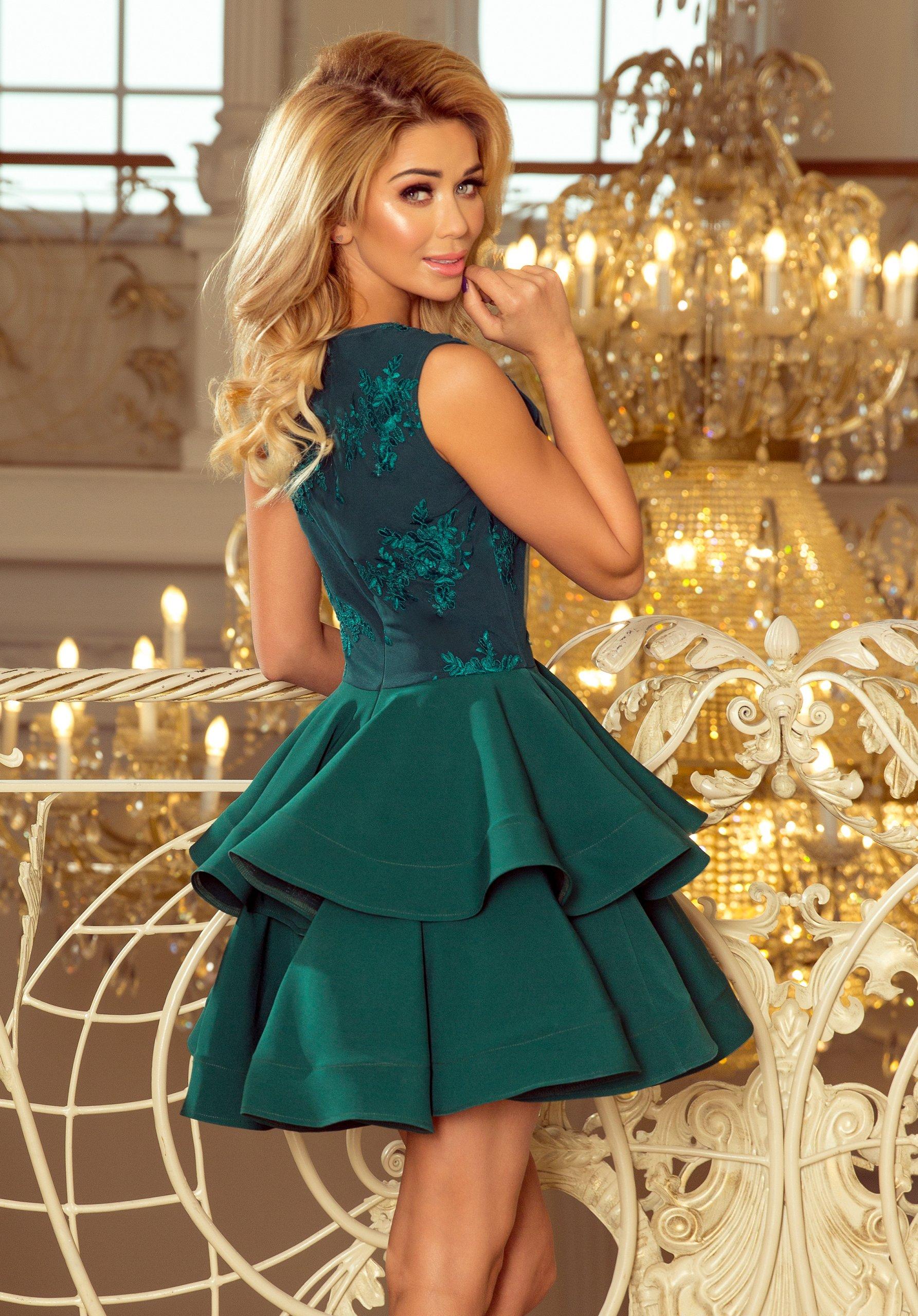 ELEGANCKA Sukienka WIECZOROWA NA BAL 200-6 M 38