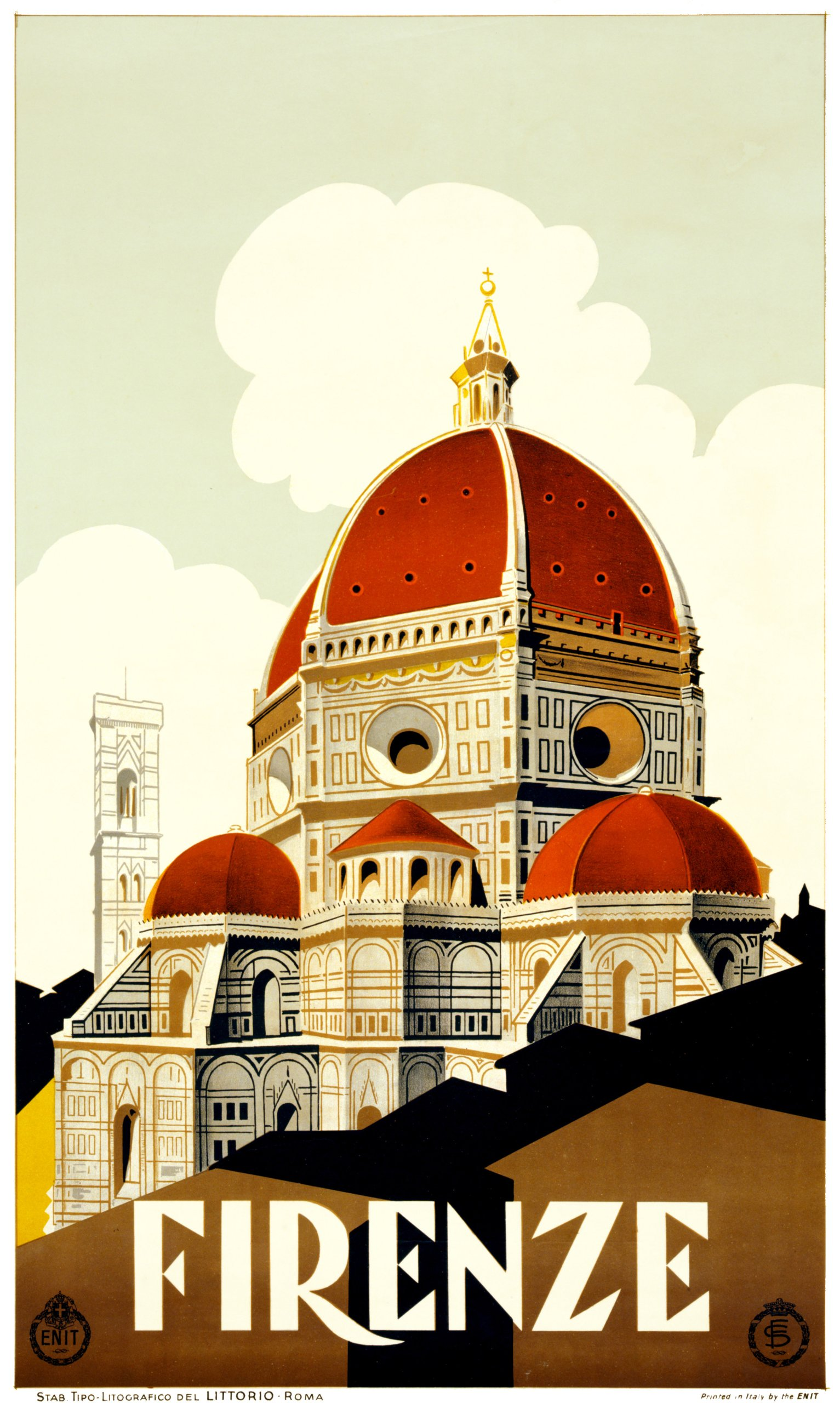 Item travel poster of FLORENCE, Italy