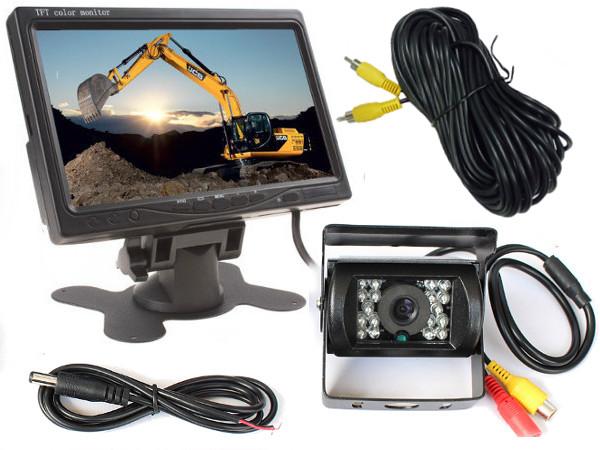 Монитор 7 + камера с оптикой SONY 12/24 В кабель 10м