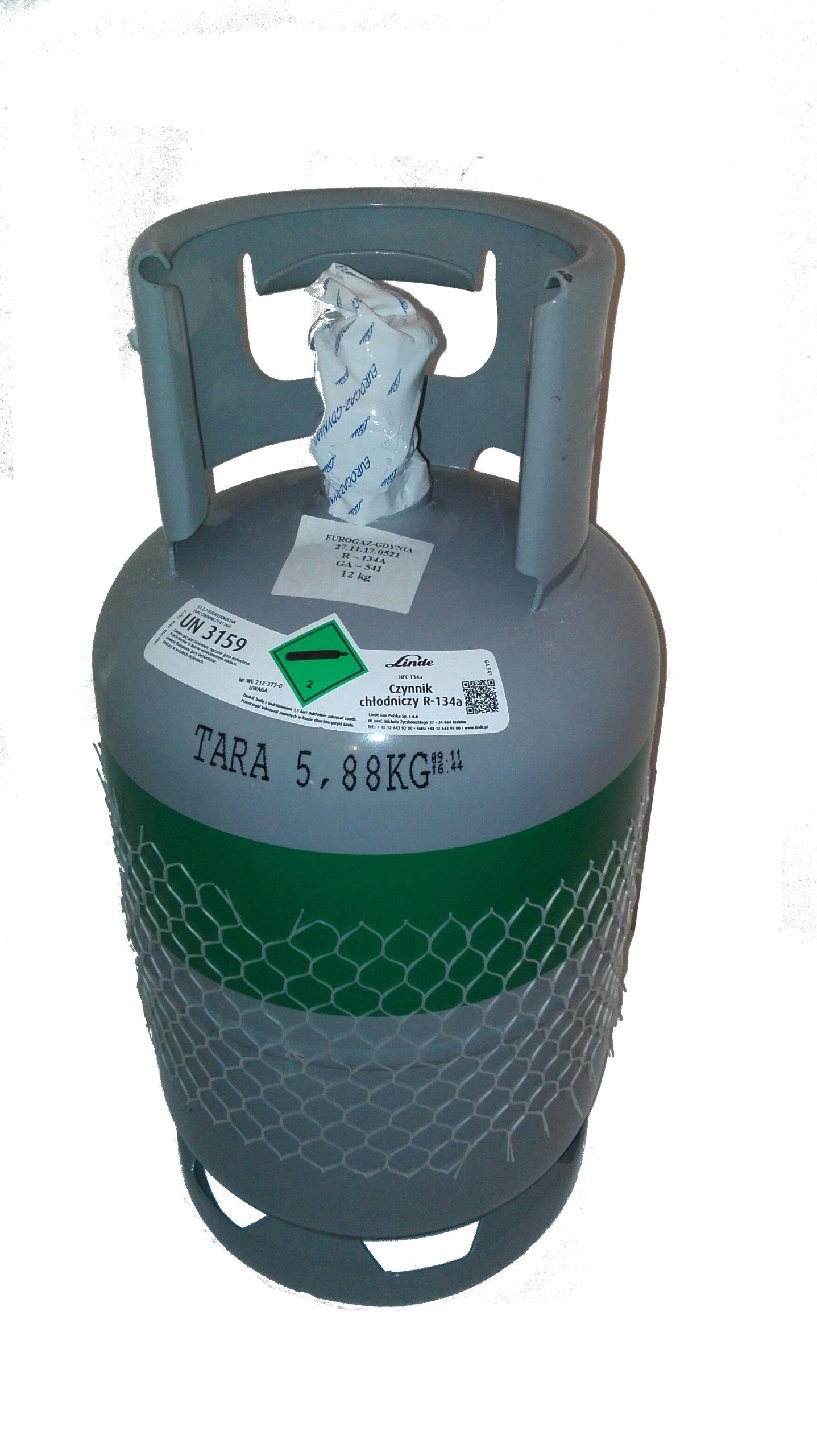 Купить R134a хладагент LINDE 12 кг на Otpravka - цены и фото - доставка из Польши и стран Европы в Украину.
