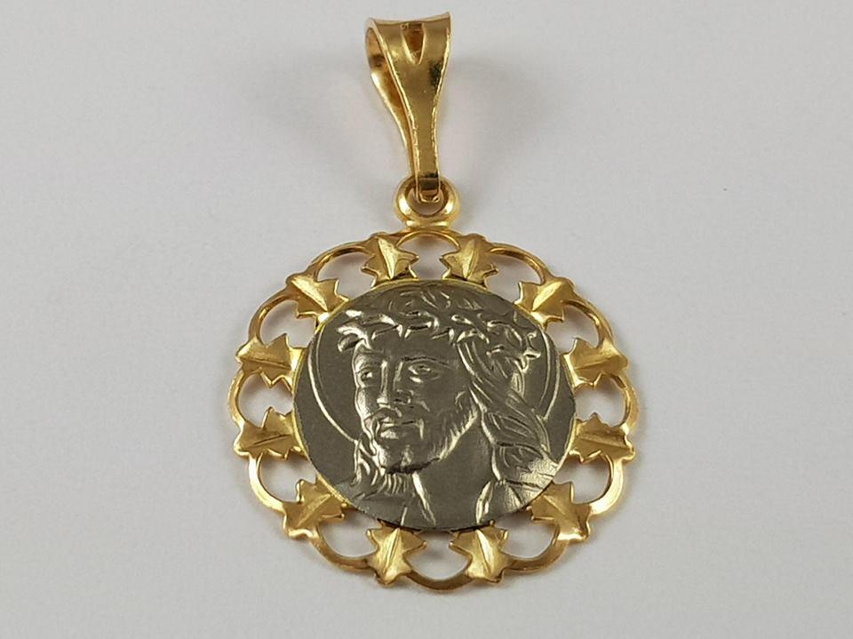 Medailón žlté, biele zlato PÁN Ježiš je skvelý pr585