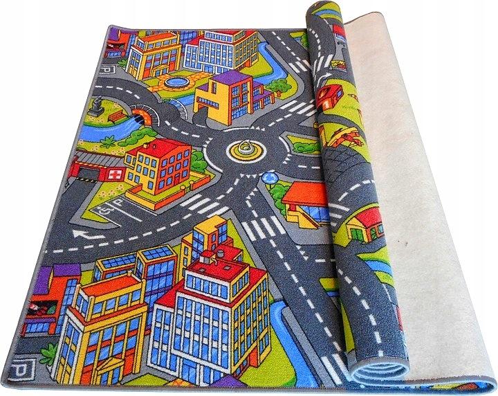 Wykładzina dywanowa dywan miasto wieś dzieci ulice
