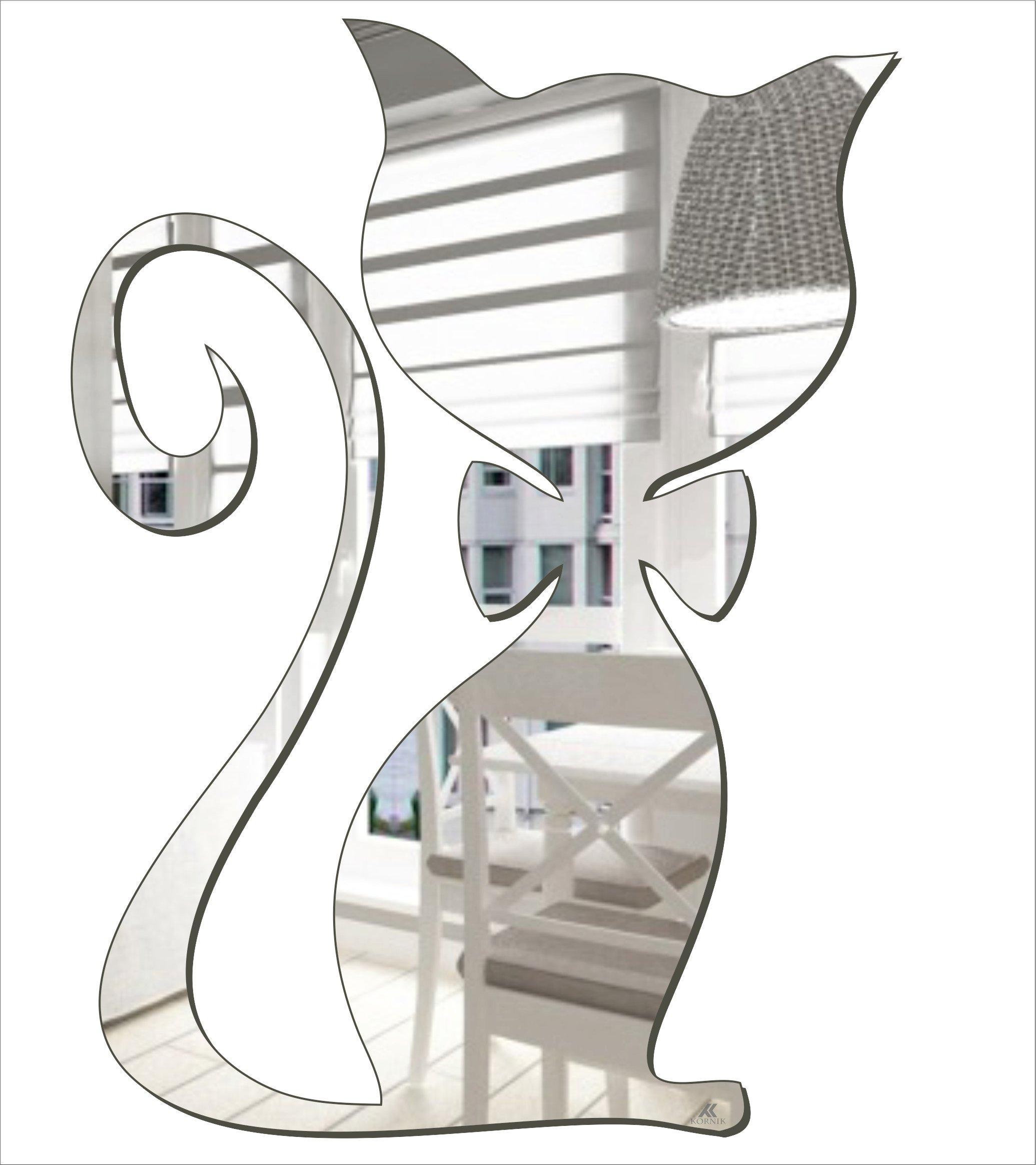 Декоративное акриловое зеркало Котенок