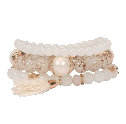 Item Set bracelet multi beads brush - 3 PCs