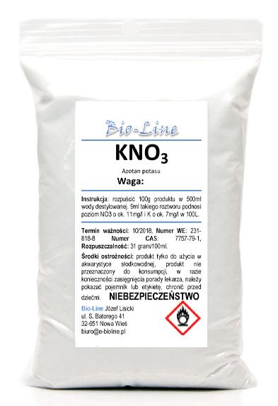 KNO3 Azotan Potasu czysty do 99,9% 100g AZOT