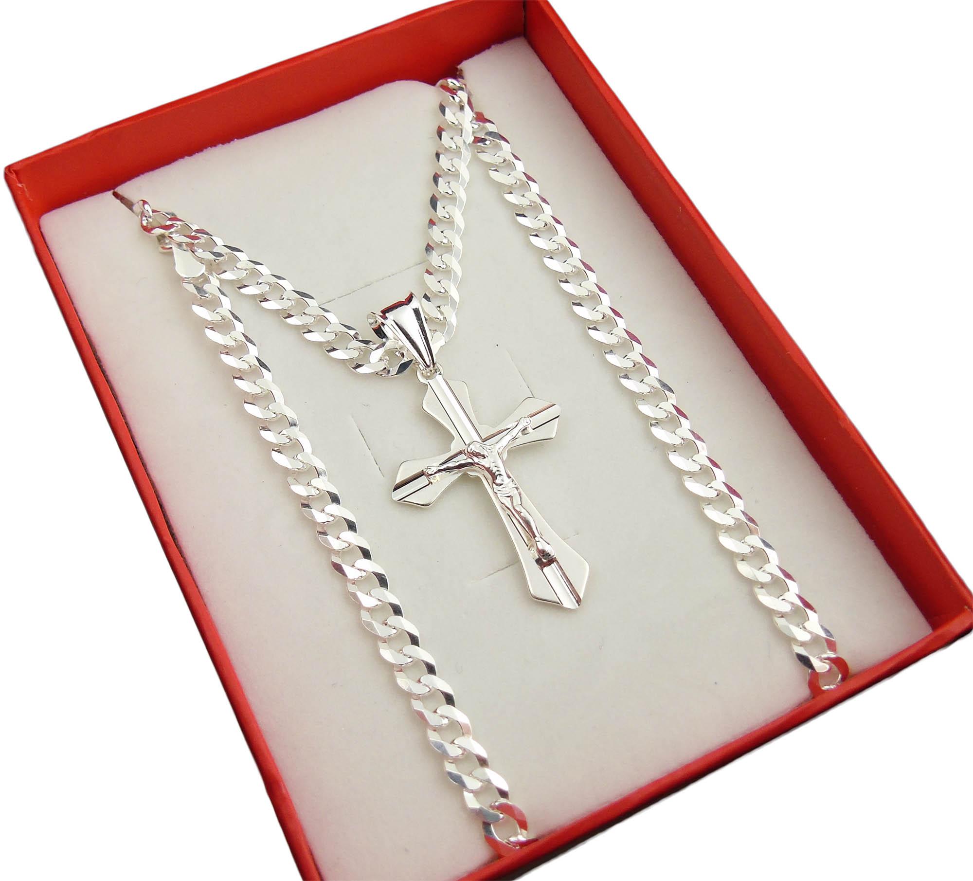 "Item Sterling Silver chain the ""Panterka"" 50 cm 4.6 mm + Cross"