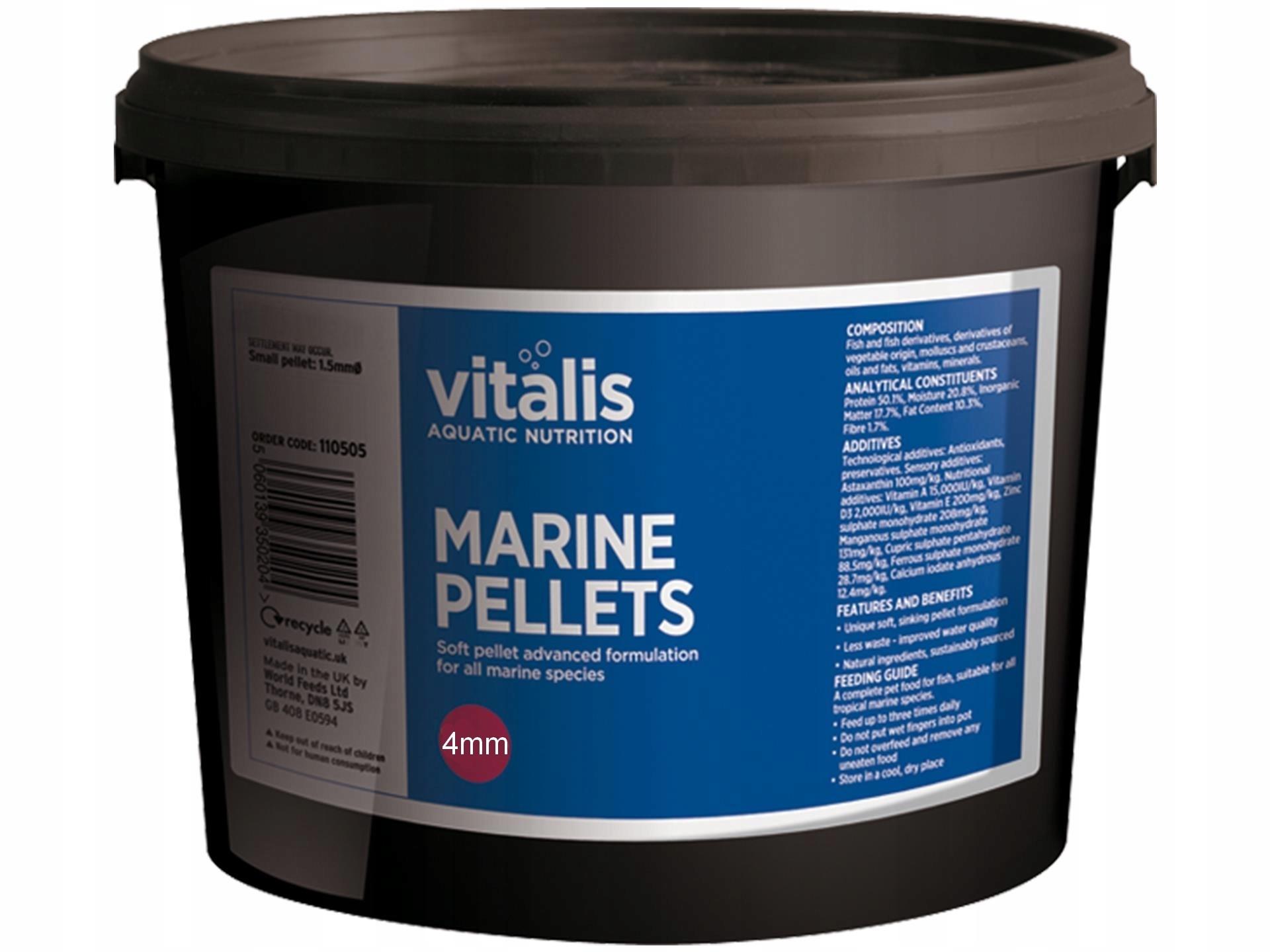 VITALIS MORSKÝCH S PELIET 4 mm, 20 kg Potravín