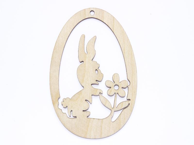 Купить Яйцо из фанеры № 5 Кролик и цветок яйцо декоративные на Otpravka - цены и фото - доставка из Польши и стран Европы в Украину.