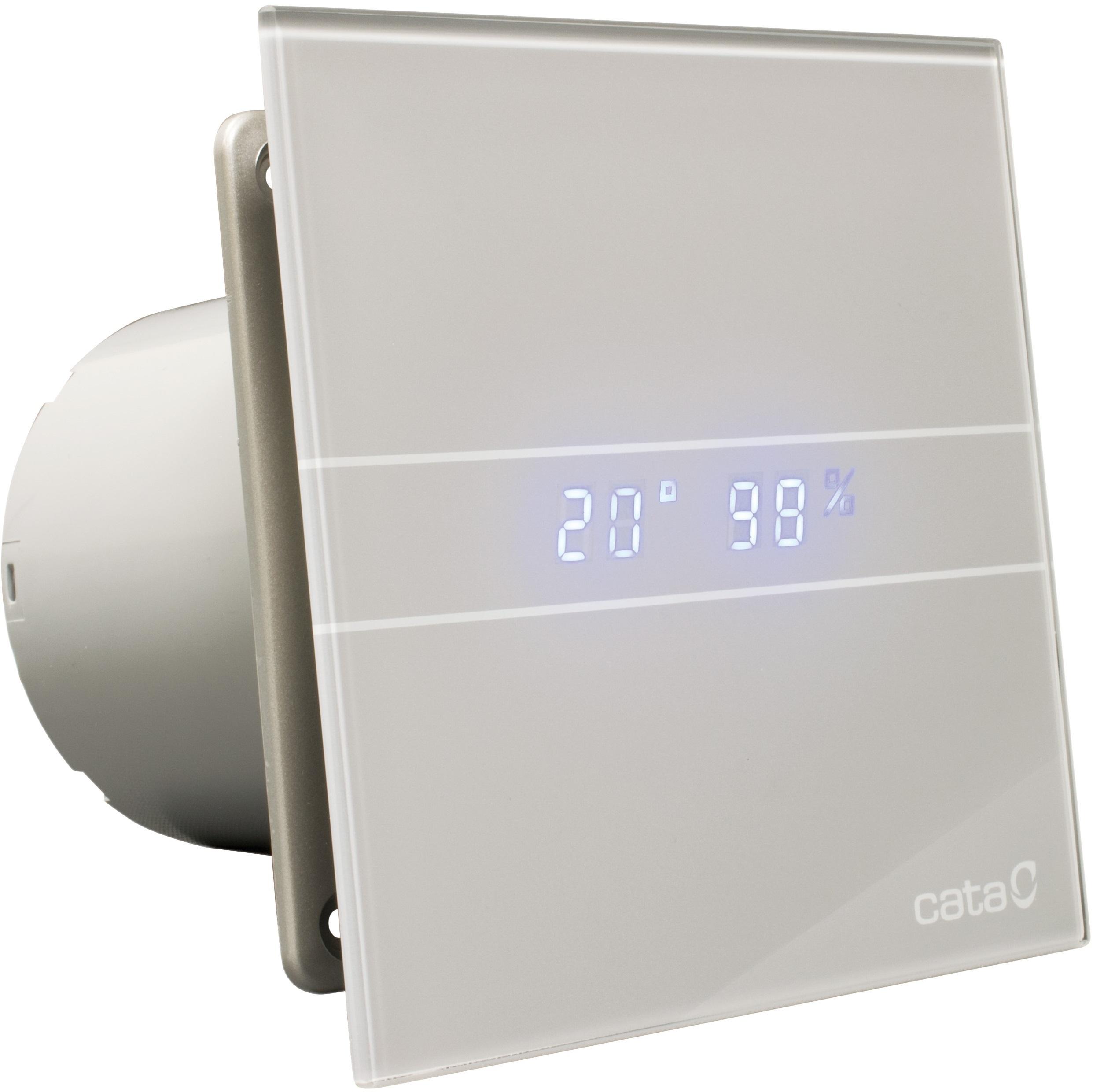 Kúpeľňový ventilátor E-100 GSTH CATA HYGRO + klapka