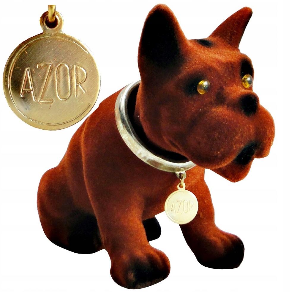 собачка azor собака культовый z kiwającą головой к автомобиля