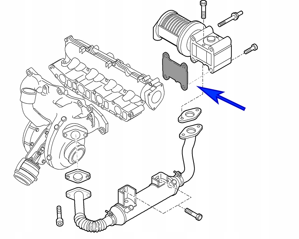 08B. Zaślepka EGR Fiat Opel 1.9 16V 2.4 JTDM CDTI