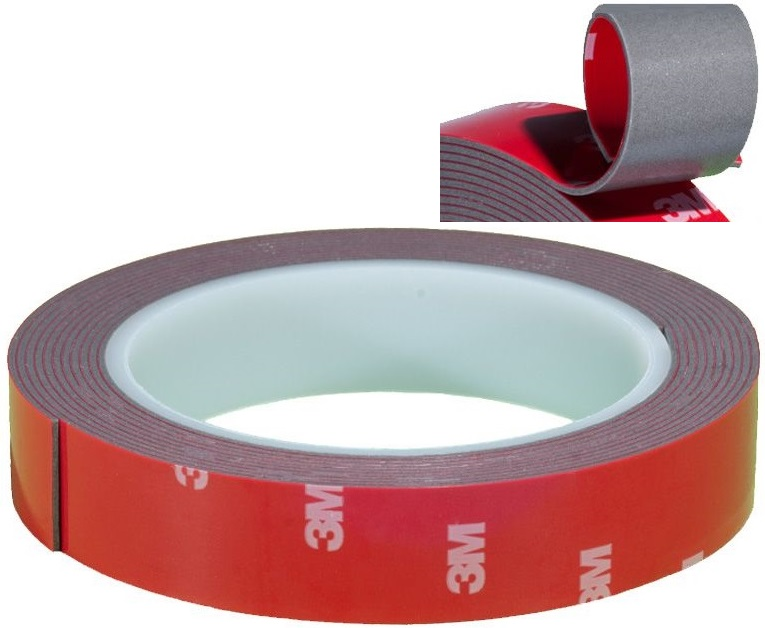 Item 12.7 mm TAPE double sided ADHESIVE ACRYLIC 3M VHB