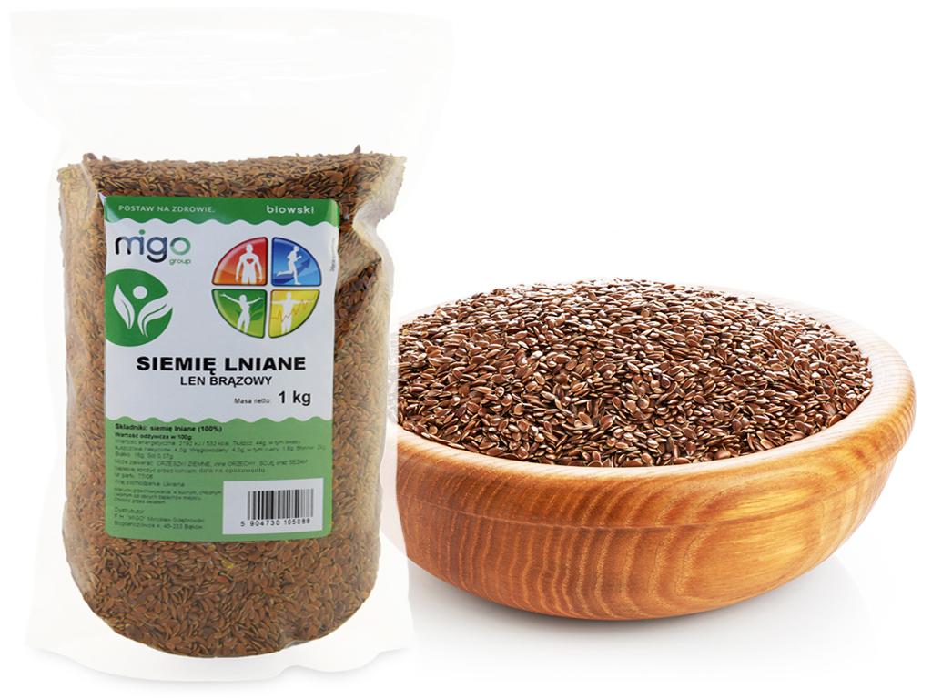 SIEMIĘ LNIANE - len Ziarno 1 kg - MIGOgroup