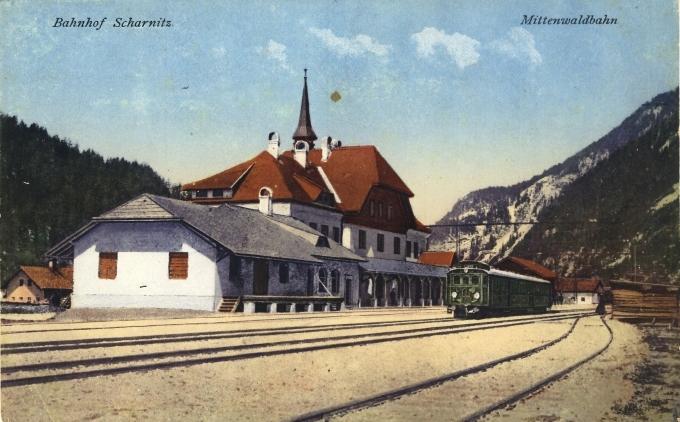 Bahnhof Scharnitz. Matenwaldbahn