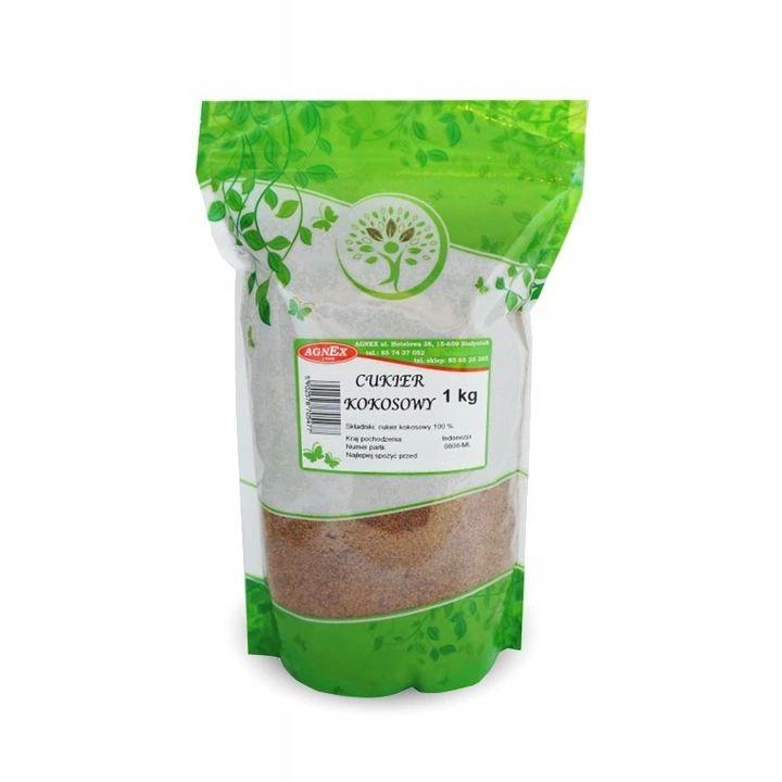 CUKIER KOKOSOWY PALMOWY 1kg 100% NATURALNY - AGNEX