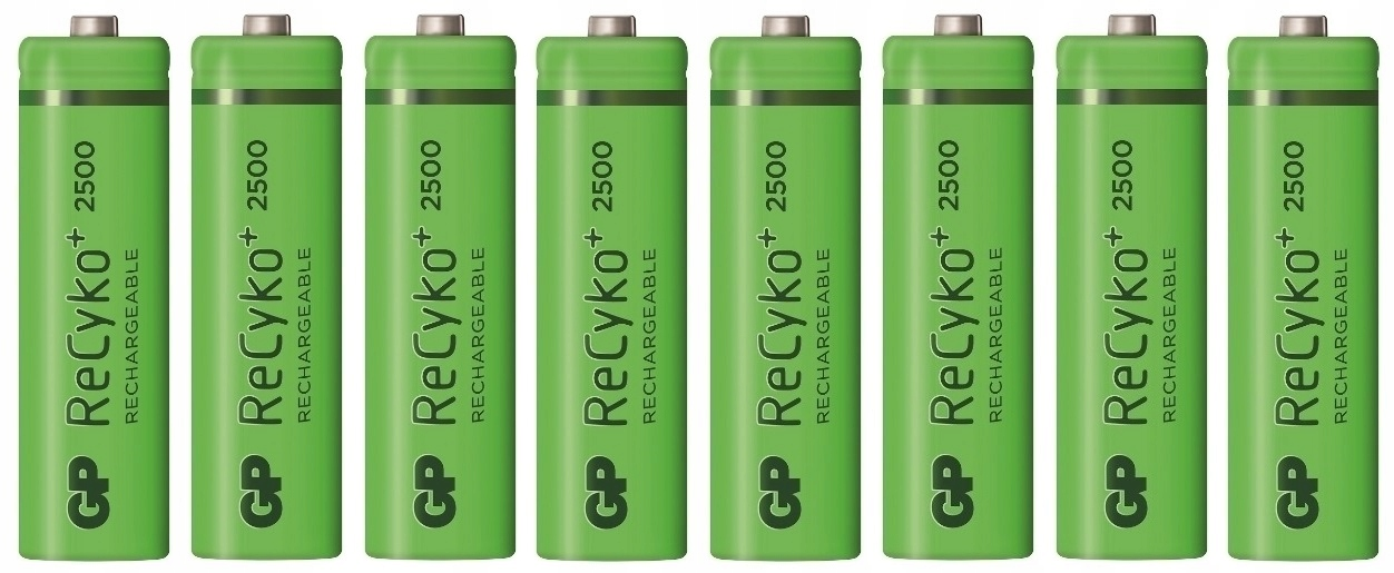 Item 8 x Battery GP Recyko+ AA R6 2500mAh 1.2 V NiMH