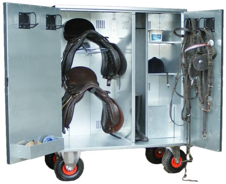 Mobilná skrinka pre sedlové a jazdecké doplnky