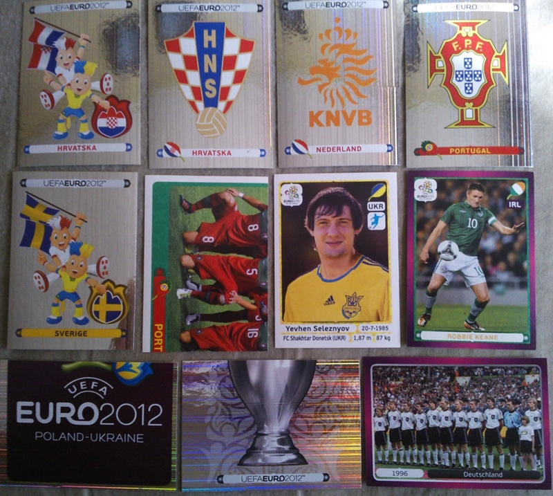 Naklejki Panini - EURO 2012 - Набор