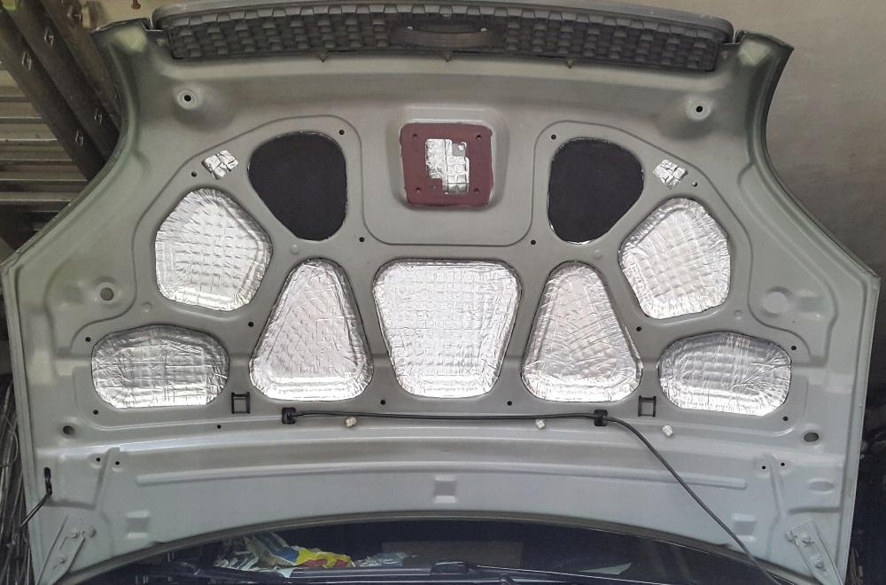 мат обезшумка шумоизоляции капота отсека двигателя, фото