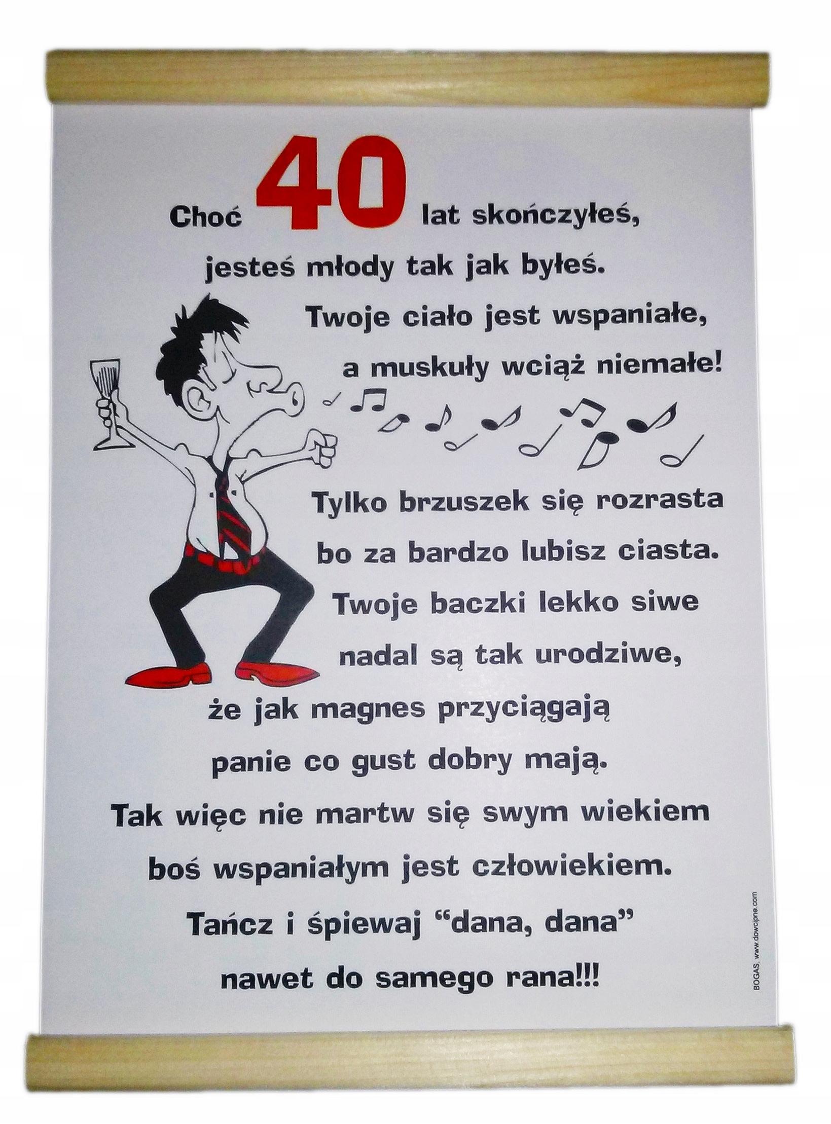 Dyplom Na 40 Urodziny Dla Mężczyzny Faceta 40stka