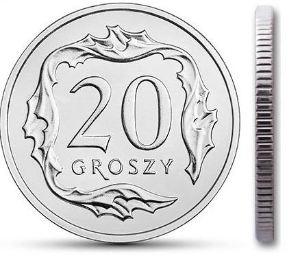 Чеканка 20 грошей 2001 г. с мешком