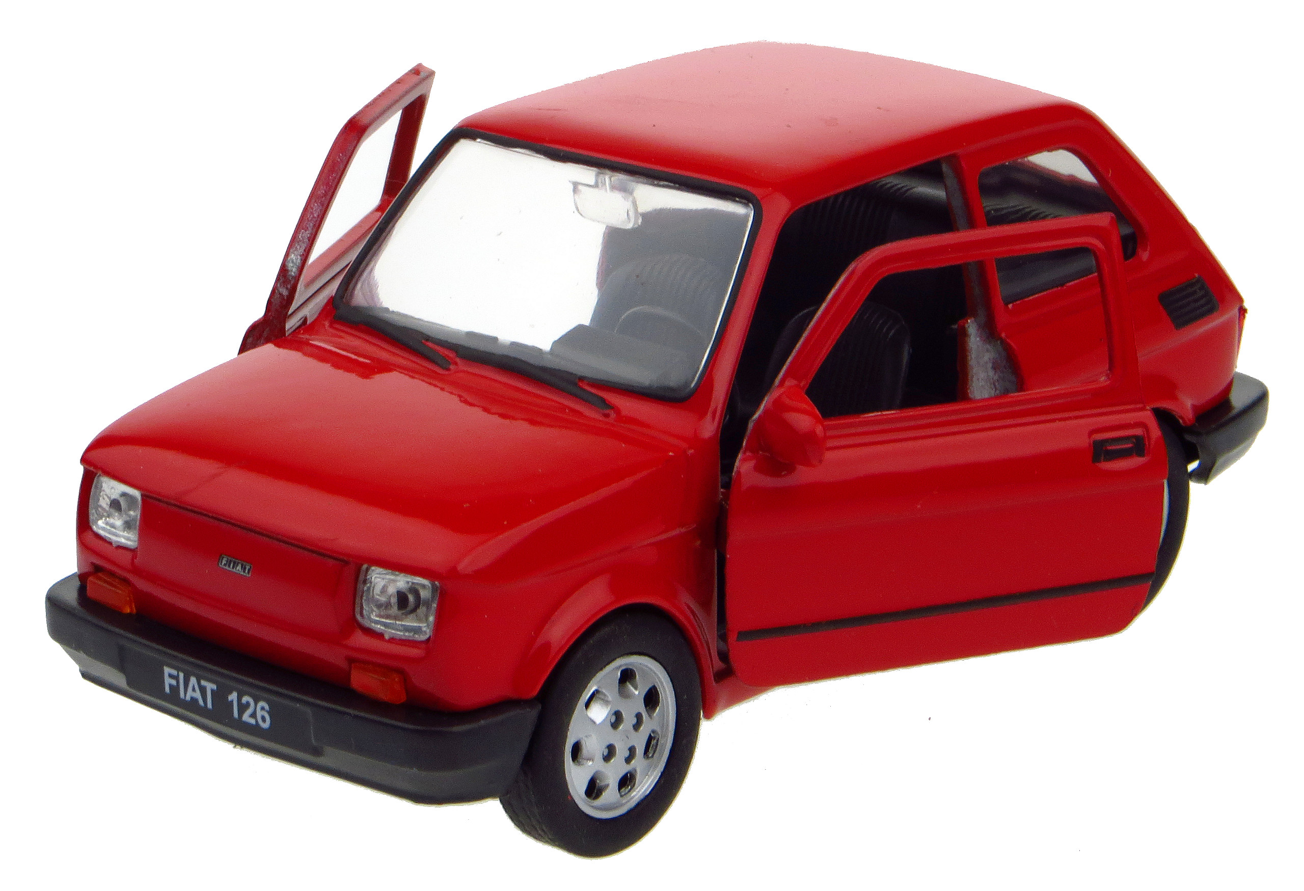 FIAT 126 P Metal Model Welly 1:34 Red
