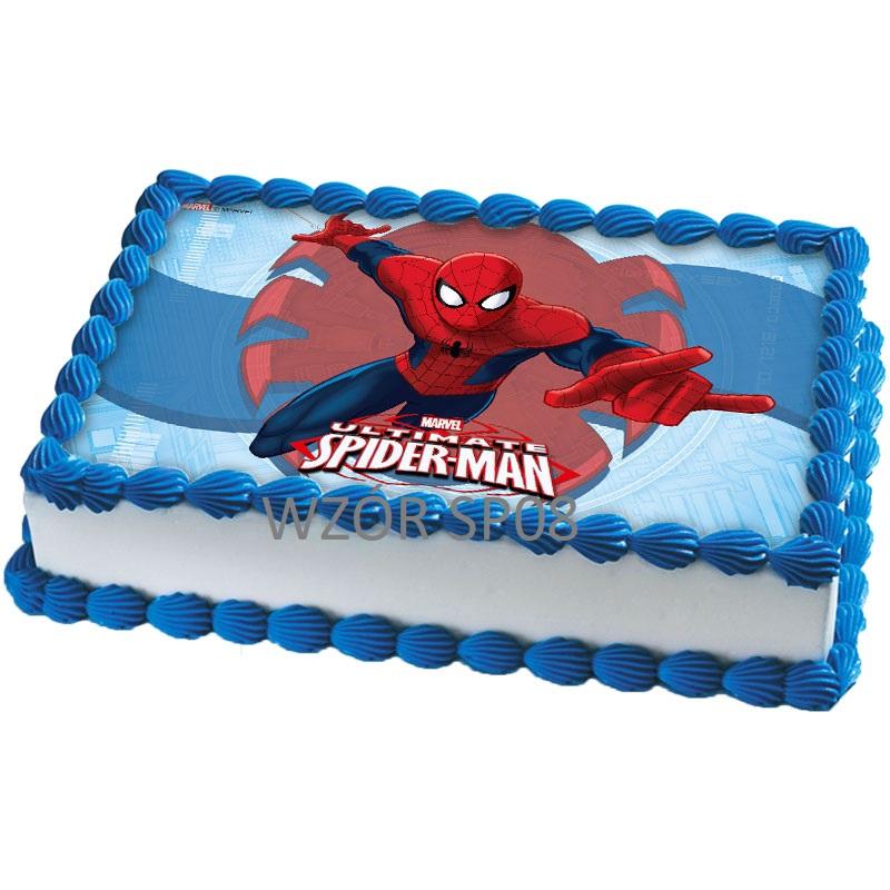 больше торт с сахарной картинкой человек паук фото затем тому пользователю