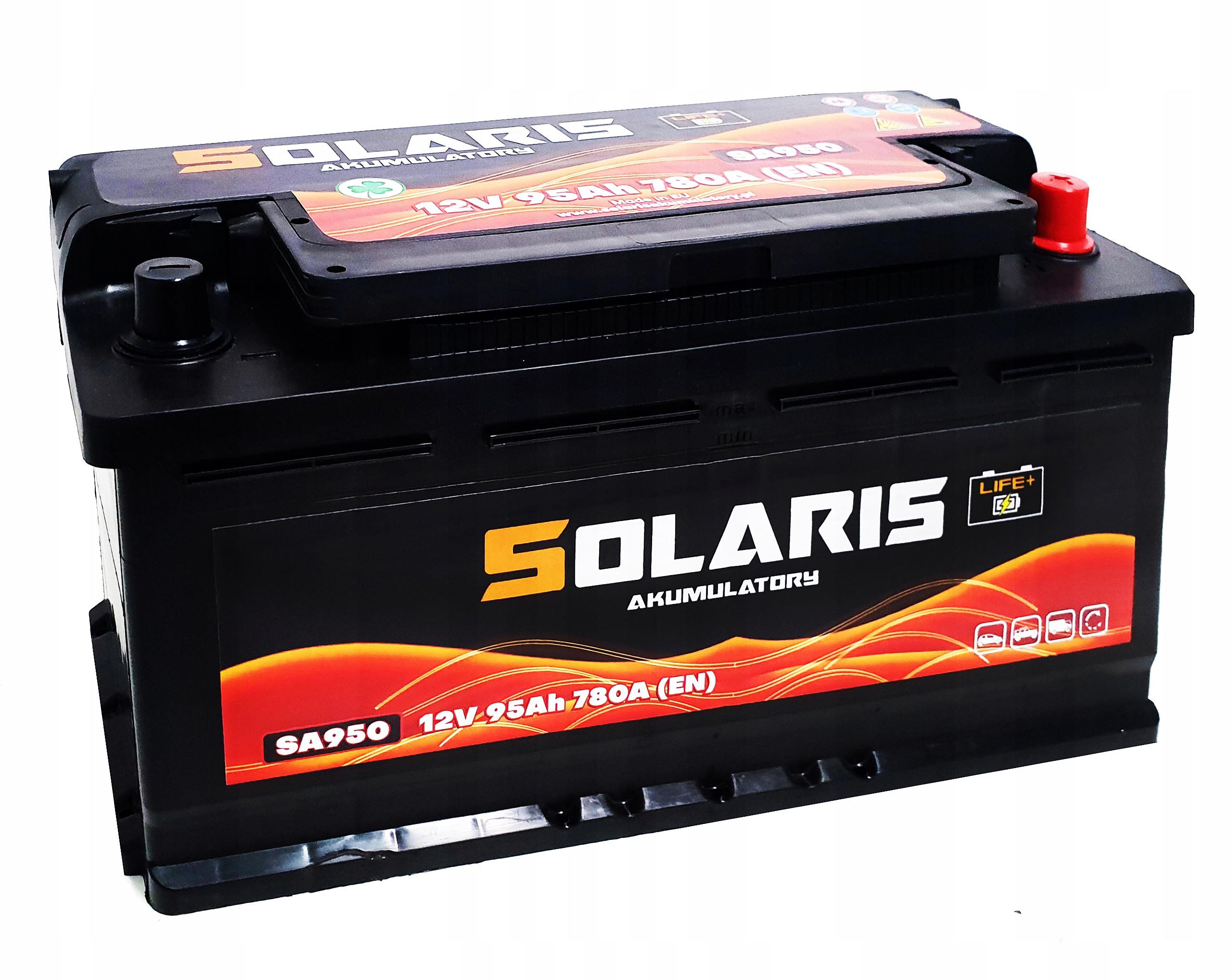 аккумулятор solaris 95ah 780a они 100 950