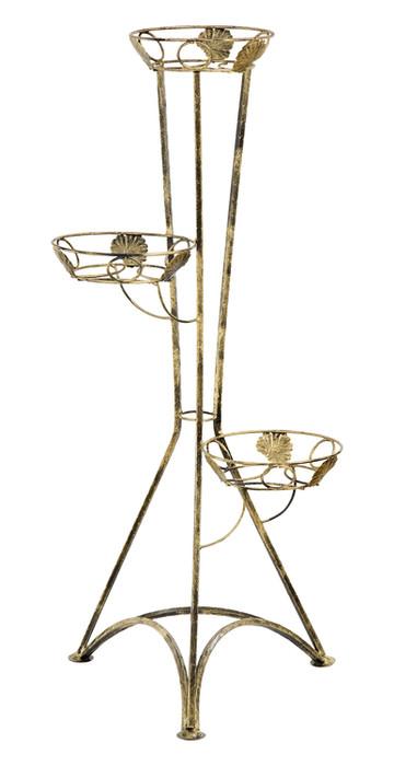 Kovový stojan na 3 kvety 100cm 129