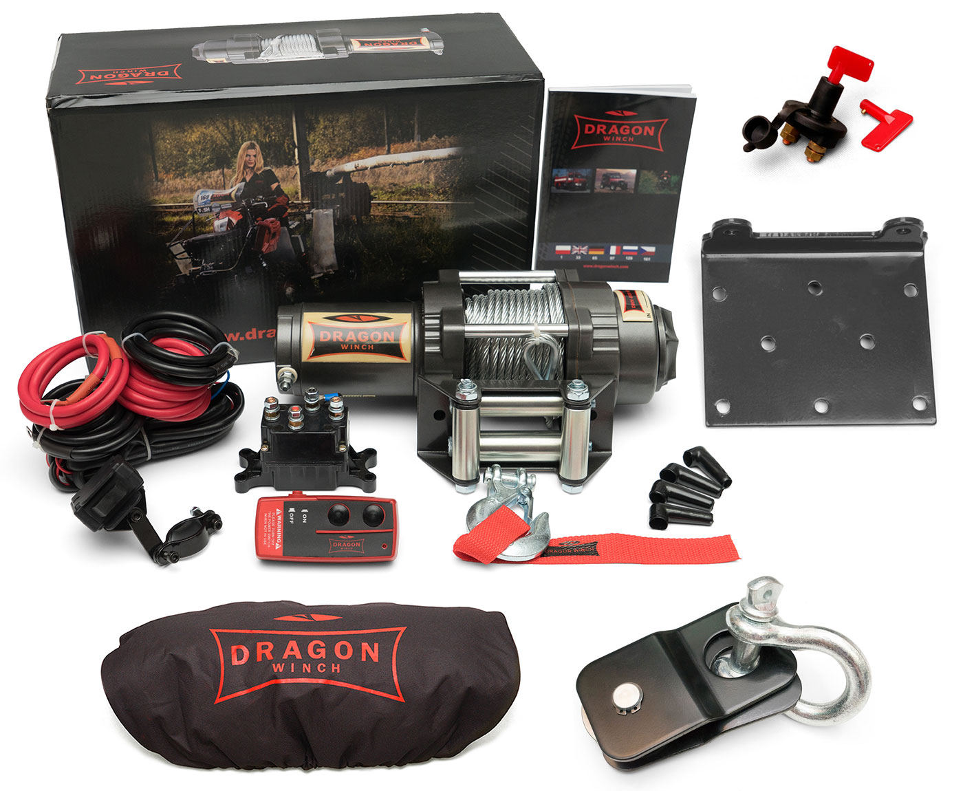 ЛЕБЕДКА DRAGON WINCH DWH3000HD 1,3T QUAD SET