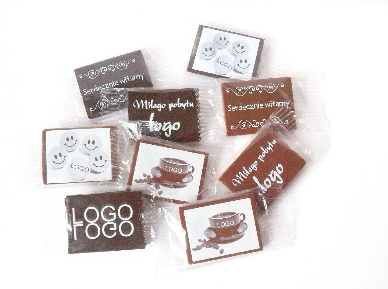 Čokolády s logom firmy Tlač