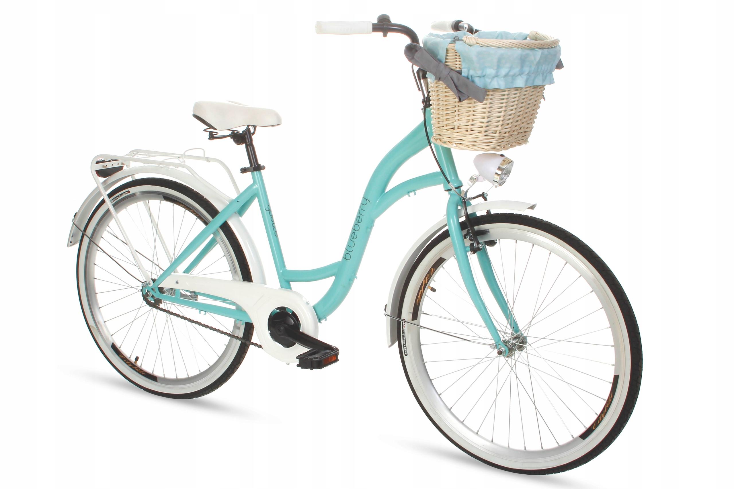 Dámsky mestský bicykel Goetze BLUEBERRY 26 košík!  Čučoriedkový model