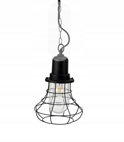 Záhrada lampa visí lampa retro vintage oceľový rám