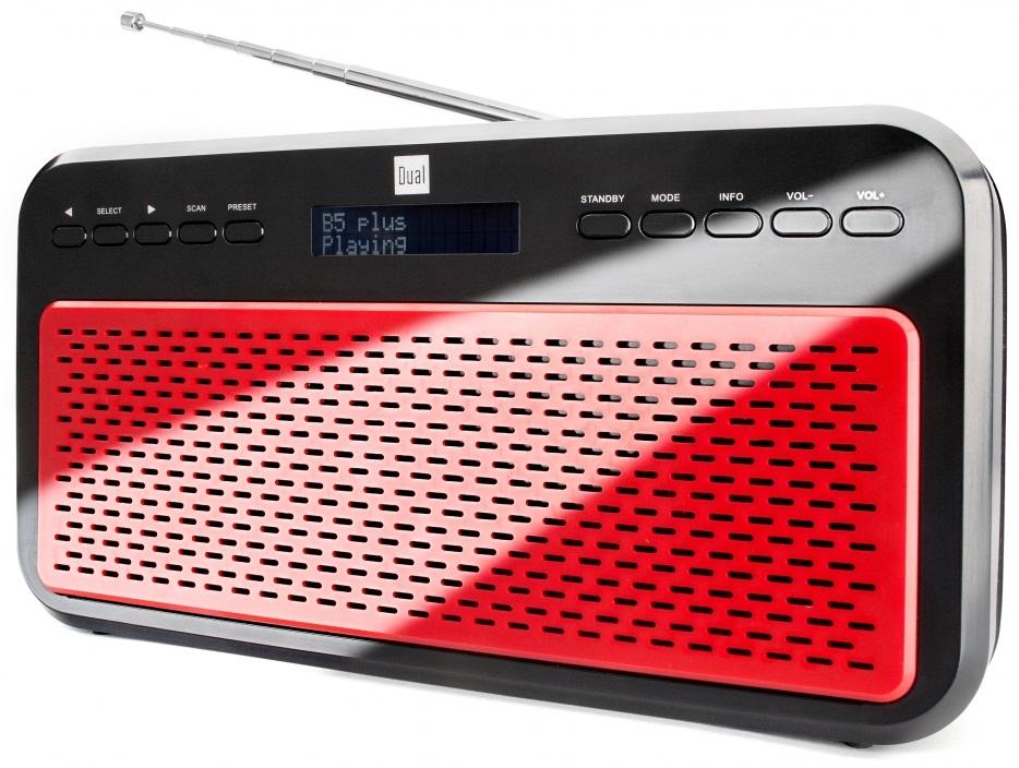 Rádio stereo DAB + / FM DAB 12 UKW LCD DIGITAL DUAL