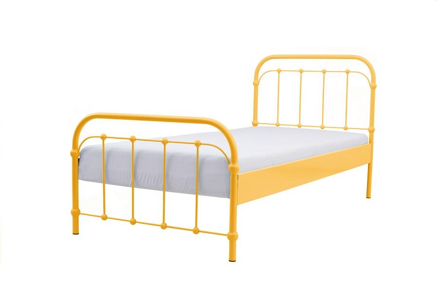 Kovové postele 90x200 Babička žltá Výrobca