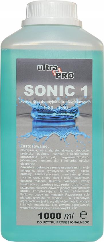 SONIC płyn koncentrat do myjki ultradźwiękowej 1l.