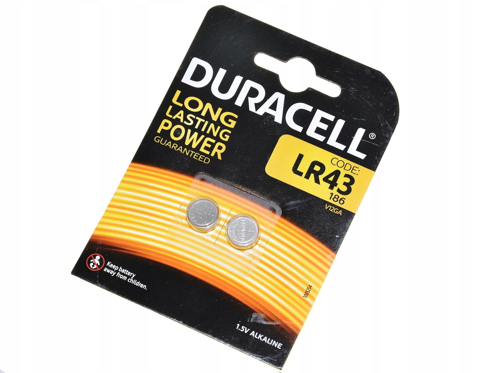 Batéria Duracell pre Zenita LR43 1.5V 2x Alkaline