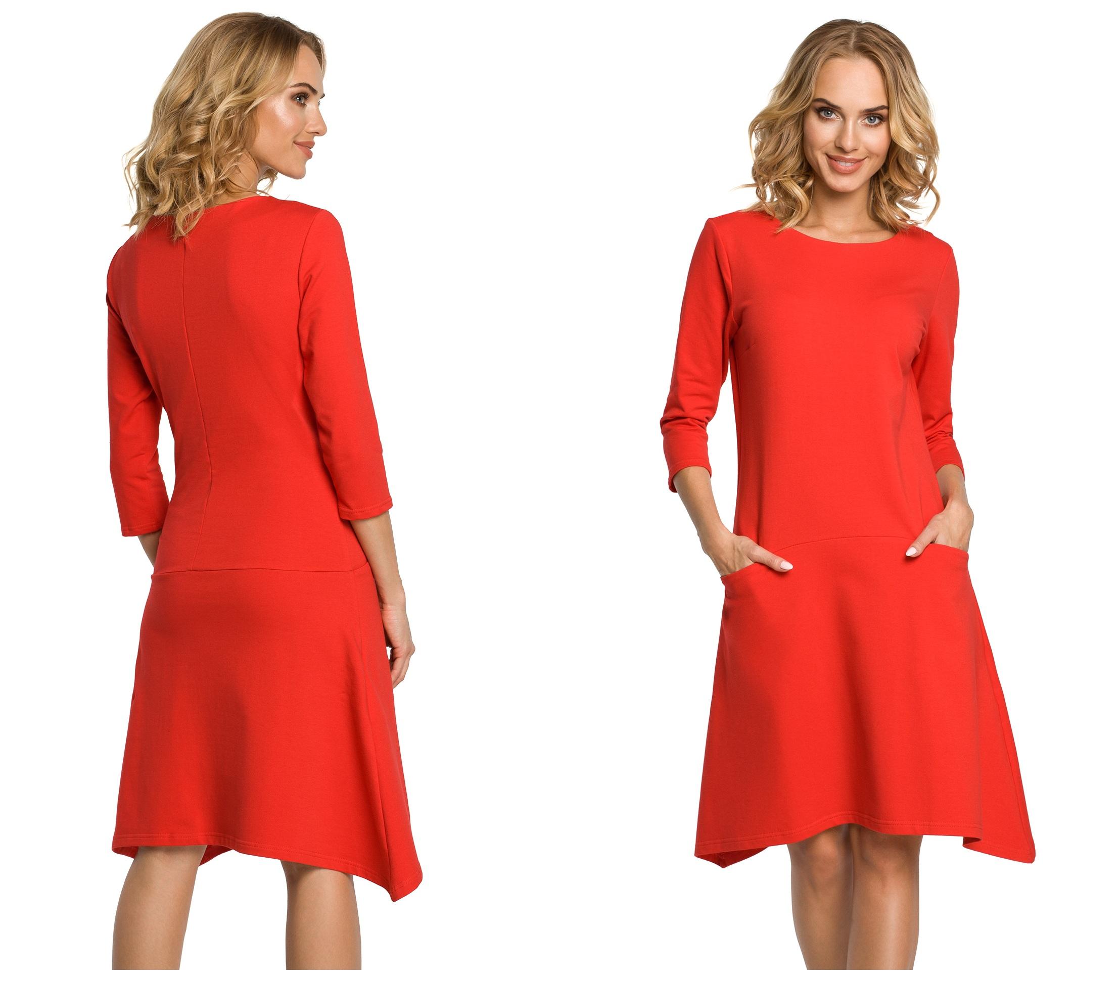 Sukienka Dresowa Bawełniana Sportowa Elegancja